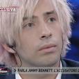"""Jimmy Bennett donne une interview exclusive sur le plateau de """"Non è l'Arena sur la chaîne italienne LA7, dimanche 23 septembre 2018."""