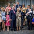 La reine Paola de Belgique fête son 80ème anniversaire avec 74 jours d'avance, à la chapelle musicale reine Elisabeth à Waterloo, entourée de ses enfants, ses petits enfants et d'autres membres de la famille royale. Belgique, Bruxelles, 29 juin 2017.