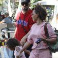 Exclusif - Mel B emmène sa fille Madison avec son ami Gary Madatyan à une fête d'anniversaire à Hollywood september 6, 2018.