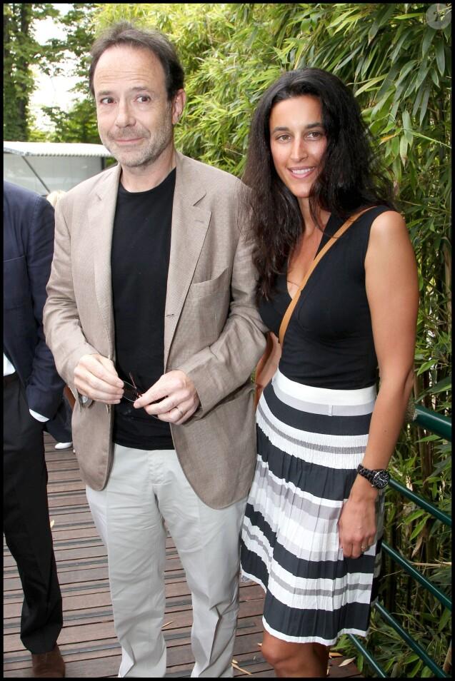 Marc Levy et sa femme Pauline Leveque à Rolland Garros, le 5 juin 2011