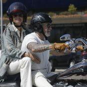 Laeticia Hallyday à Los Angeles : Virées bikers sur la moto de son Johnny