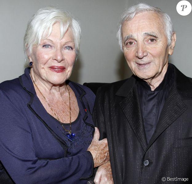 Exclusif - Line renaud, Charles Aznavour à l'Olympia pour l'Arménie, Paris, le 28 septembre 2011.
