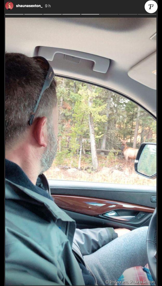 Ben Affleck et sa petite amie Shauna Sexton se sont offert un week-end en pleine nature dans le Montana. Octobre 2018.