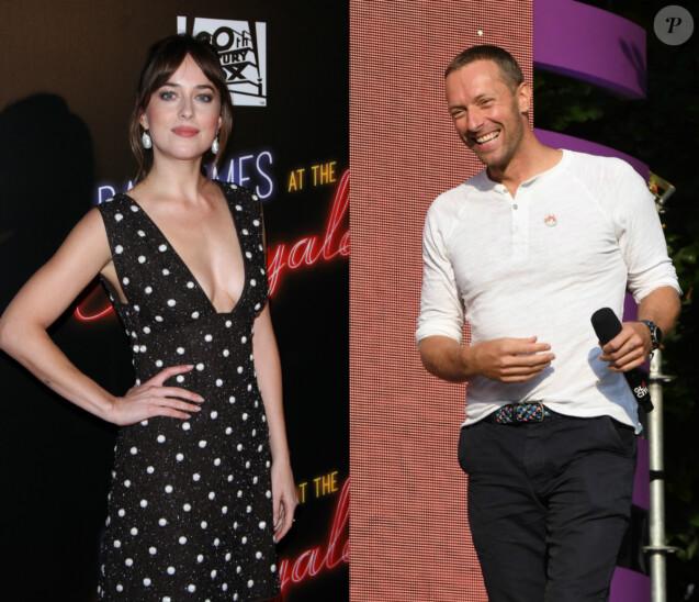 Dakota Johnson et Chris Martin lors d'événements à New York en septembre 2018.