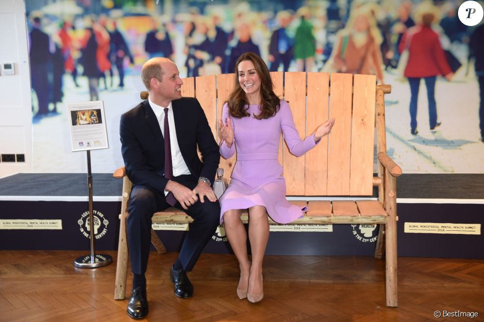 Le prince William et Kate Middleton au premier sommet sur la santé mentale au County Hall à Londres le 9 octobre 2018.