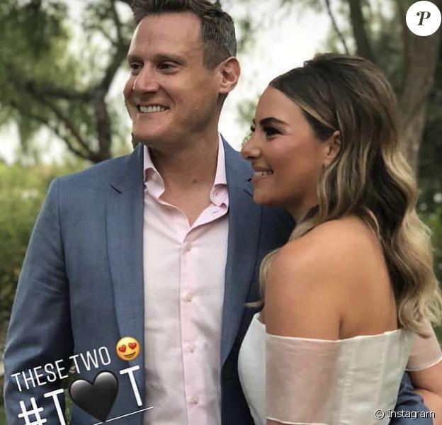 Trevor Engelson et sa nouvelle femme Tracey Kurland lors de leur mariage à Los Angeles le 6 octobre 2018. Photo publiée sur Instagram par une amie du couple.