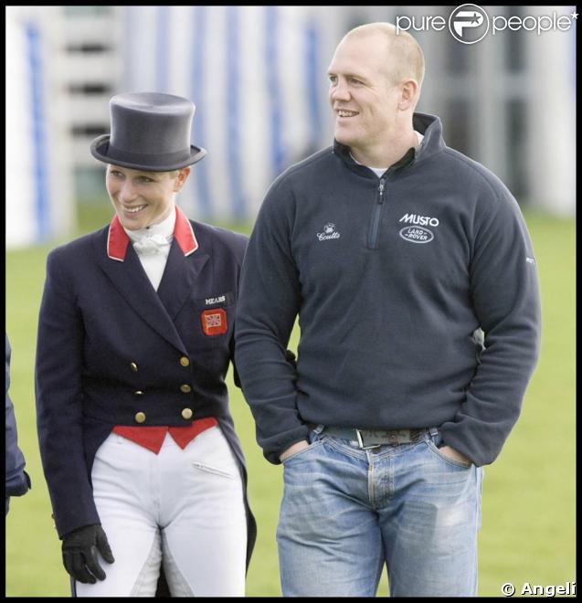 Zara Phillips et son petit ami Mike Tindall au Badminton Horse Trials 2009