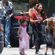 Exclusif - Jenna Dewan et son ex-mari Channing Tatum accompagnent leur fille Everly à l'école à Los Angeles, le 21 juin 2018.