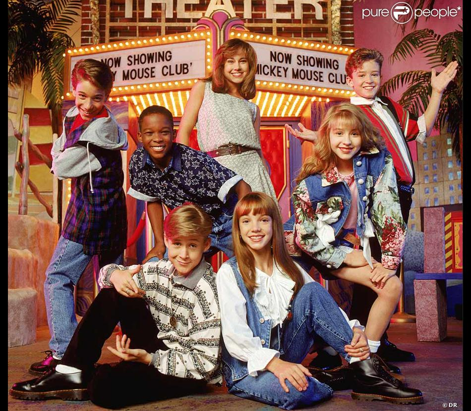 Ryan Gosling et Britney Spears (en bas), à l'époque de Mickey Mouse Club.