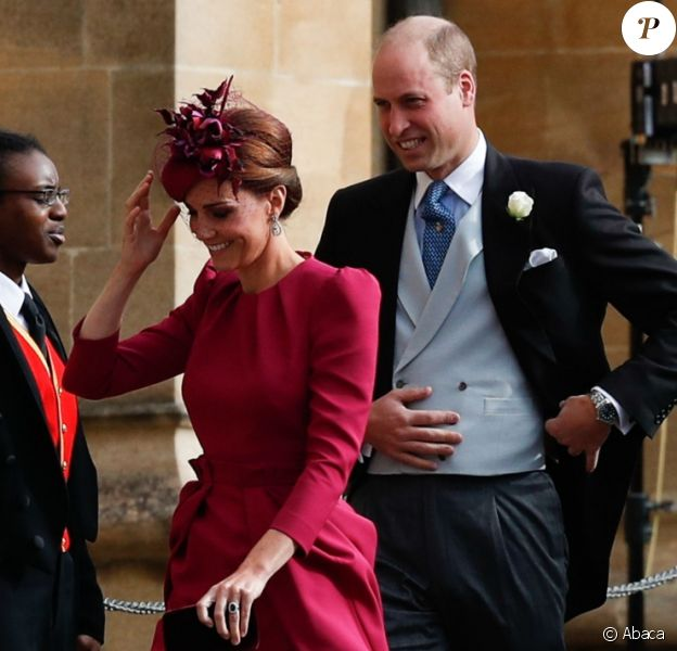 Le prince William, duc de Cambridge, et Catherine (Kate) Middleton, duchesse de Cambridge - Cérémonie de mariage de la princesse Eugenie d'York et Jack Brooksbank en la chapelle Saint-George au château de Windsor, Royaume Uni le 12 octobre 2018.