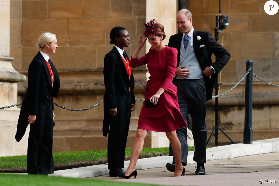 Le prince William, duc de Cambridge, et Catherine (Kate) Middleton, duchesse de Cambridge - Cérémonie de mariage de la princesse Eugenie d'York et Jack Brooksbank en la chapelle Saint-George au château de Windsor, Royaume Uni le 12 octobre 2018.