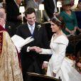 Cérémonie de mariage de la princesse Eugenie d'York et Jack Brooksbank en la chapelle Saint-George au château de Windsor, Royaume Uni le 12 octobre 2018.