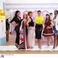 """Morgane et ses concurrentes lors de la 1000e des """"Reines du shopping"""" sur M6. Le 22 octobre 2018."""