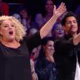 """Marianne James et Sugar Sammy - """"La France a un incroyable talent 2018"""", le 30 octobre 2018 sur M6."""