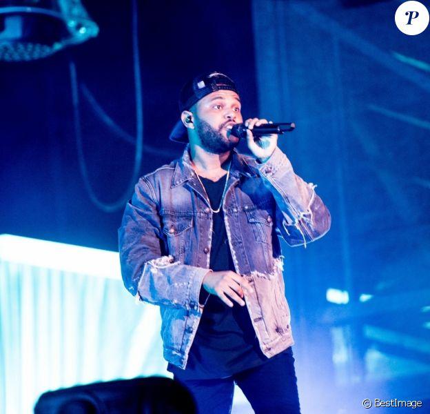The Weeknd en concert lors du 51ème Festival d'Eté de Québec, le 7 juillet 2018.