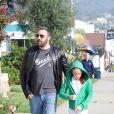 Jennifer Garner et Ben Affleck sont arrivés séparément avec leurs enfants à l'église à Pacific Palisades, le 29 octobre 2018. Ben Affleck est arrivée avec Seraphina.