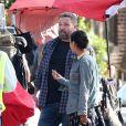 Exclusif - Ben Affleck sur le tournage du film Torrance à Los Angeles après plusieurs mois en cure de désintoxication, le 22 octobre 2018