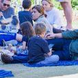 Ben Affleck a passé une après midi dans un parc en compagnie de ses enfants Samuel , Seraphina et Violet Le 20 octobre 2018