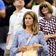 Mirka Federer et Anna lors de l'US Open à New York le 28 août 2018.