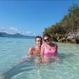 Camille Gottlieb et son ami Hugo sur l'île aux aigrettes lors de leurs vacances à l'île Maurice fin octobre - début novembre 2018, photo issue du compte Instagram d'Hugo.
