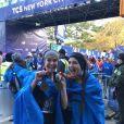Photo Instagram de Teri Hatcher le 4 novembre 2018 avec sa fille Emerson Tenney à l'arrivée du marathon de New York, qu'elles ont couru au profit de l'association Save the Children.