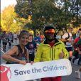Image de la story Instagram de Teri Hatcher le 4 novembre 2018, lorsqu'elle a couru le marathon de New York avec sa fille Emerson Tenney au profit de l'association Save the Children.