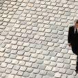 Emmanuel Macron et sa femme Brigitte - Arrivées à l'hommage national à Charles Aznavour à l'Hôtel des Invalides à Paris. Le 5 octobre 2018 © Jacovides-Moreau / Bestimage Arrivals at the national tribute of Charles Aznavour at the Hotel des Invalides in Paris. On october 5th 201805/10/2018 - Paris