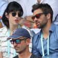 Nolwenn Leroy et son compagnon Arnaud Clément dans les tribunes des Internationaux de France de Tennis de Roland Garros à Paris, le 10 juin 2018. © Dominique Jacovides - Cyril Moreau/Bestimage