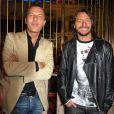 Jean Roch et le DJ Bob Sinclar à leur soirée hier à Cannes