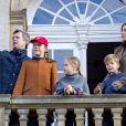 Le prince Frederik et la princesse Mary de Danemark ont assisté avec trois de leurs enfants, Isabella, Vincent et Joséphine, à la chasse Hubertus, une course équestre, le 4 novembre 2018 au pavillon de chasse Hermitage à Kongens.