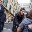 Le prince Frederik et la princesse Mary de Danemark ont visité l'hôpital pour enfants Bambino Gesu à Rome le 8 novembre 2018, en clôture de leur visite officielle.