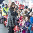 La princesse Mary de Danemark le 12 novembre 2018 à Aarhus lors de la cérémonie d'ouverture de l'exposition #childmothers, qui met en lumière la vie de très jeunes mères dans cinq pays en développement.
