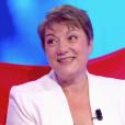 """Marie-Christine dans """"Tout le monde veut prendre sa place"""" sur France 2. Le 9 novembre 2018. Elle a battu le record mondial de longévité dans un jeu télévisé."""