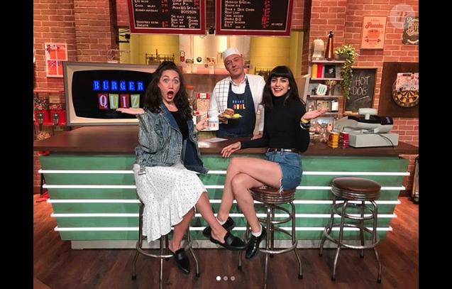 Louise Chabat, la fille d'Alain Chabat, sur le plateau du Burger Quiz, le 12 juin 2018.