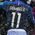 Le président Emmanuel Macron et Ousmane Dembélé - Finale de la Coupe du Monde de Football 2018 en Russie à Moscou, opposant la France à la Croatie (4-2) le 15 juillet 2018 © Moreau-Perusseau / Bestimage
