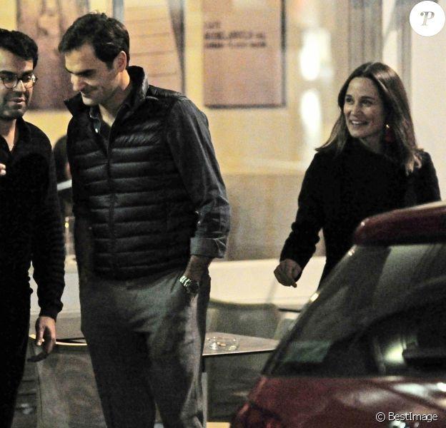 Exclusif - Roger Federer avec sa femme Mirka sont allés dîner avec leurs amis Pippa Middleton et son mari James Matthews au restaurant Il Trillo à Londres le 8 novembre 2018.
