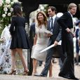 Roger Federer et sa femme Miroslava (Mirka) Vavrinec - Mariage de P. Middleton et J. Matthew, en l'église St Mark Englefield, Berkshire, Royaume Uni, le 20 mai 2017.