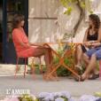 """Laetitia et Raoul face à Karine Le Marchand lors du bilan de """"L'amour est dans le pré 2018"""" sur M6 lundi 26 novembre 2018."""