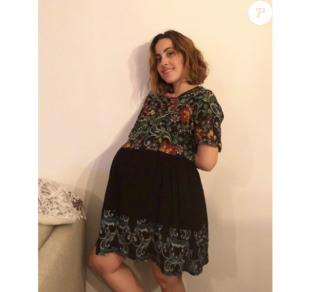 Maude très enceinte le 1er novembre 2018.