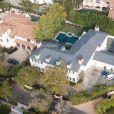 """Vues Aériennes de la propriété de Kim Porter, décédée le 15 novembre chez elle. Elle était l'ex compagne de Sean """"Diddy"""" Combs et la mère de ses enfants à Los Angeles le 17 novembre 2018."""