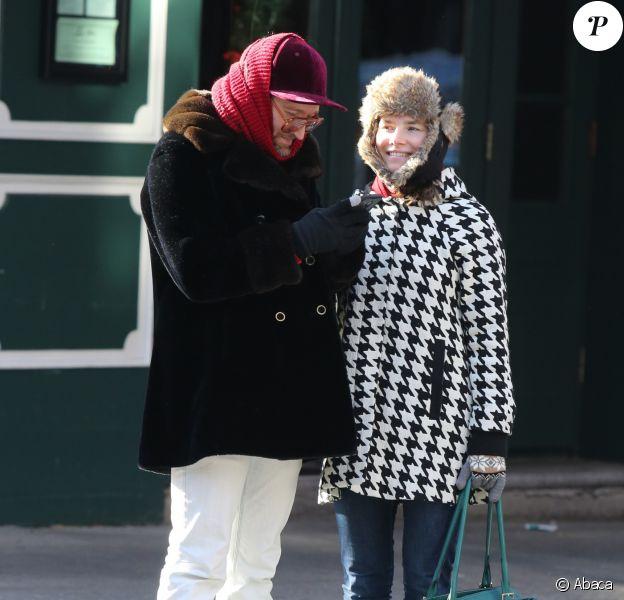 Amanda Knox et son petit ami Christopher Robinson à New York en décembre 2016.