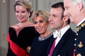 Brigitte Macron : Chic et scintillante au côté de la reine Mathilde de Belgique