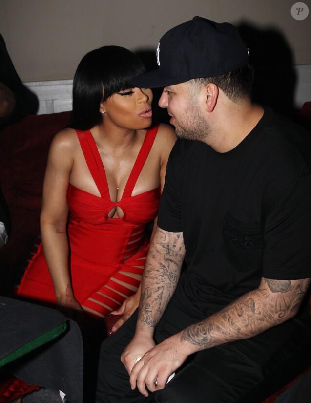 Exclusif - Blac Chyna et son fiancé Rob Kardashian ont passé une soirée au Futures nightclub à Savannah en Georgie, le 16 avril 2016.