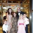 Domenico Gabbana en famille - Les célébrités arrivent à l'after party D&G/Domenico Dolce lors de la Fashion Week Spring/Summer 2019 à l'hôtel Four Seasons à Milan en Italie, le 24 septembre 2018