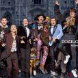 Nao Takahashi, Hero Fiennes Tiffin (neveu de R. Fiennes), YesBøwy, Kevin Chaplin (fils d'Eugene et petit-fils de Charlie Chaplin), Paris Brosnan (fils de Pierce Brosnan), Max Dodd Noble, Charlie Oldman (fils de G. Oldman), Shimizu Mash - La nouvelle campagne de Dolce & Gabbana, le 31 juillet 2018.