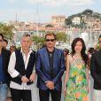 Photocall de Vengeance, Festival de Cannes, le 17 mai 2009. Ici avec Siu-Fai Cheung, Michelle Ye, Anthony Wong et Simon Yam