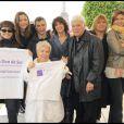 Lââm, Sandrine Quétier, Nagui, Stéphanie Fugain, Guy Bedos,  Michèle Bernier, Mimie Mathy et Corinne Touzet ont participé à la grande Marche contre la leucémie (et pour le Don de Soi)