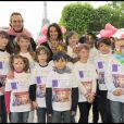 Philippe Lavil et Marie Fugain ont participé à la grande Marche contre la leucémie (et pour le Don de Soi) organisée par l'association Laurette Fugain, à Paris