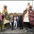 Philippe Lavil, Corinne Touzet, Stéphanie Fugain et Xavier Bertrand ont participé à la grande Marche contre la leucémie (et pour le Don de Soi) organisée par l'association Laurette Fugain, à Paris