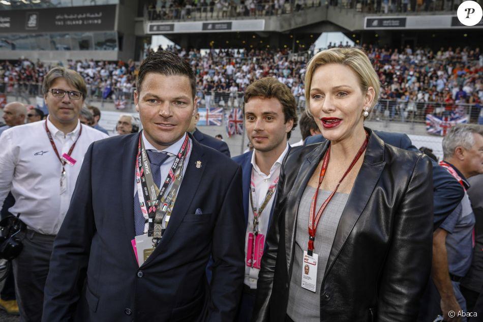 Charlene de Monaco au Grand Prix d'Abu Dhabi le 25 novembre 2018.